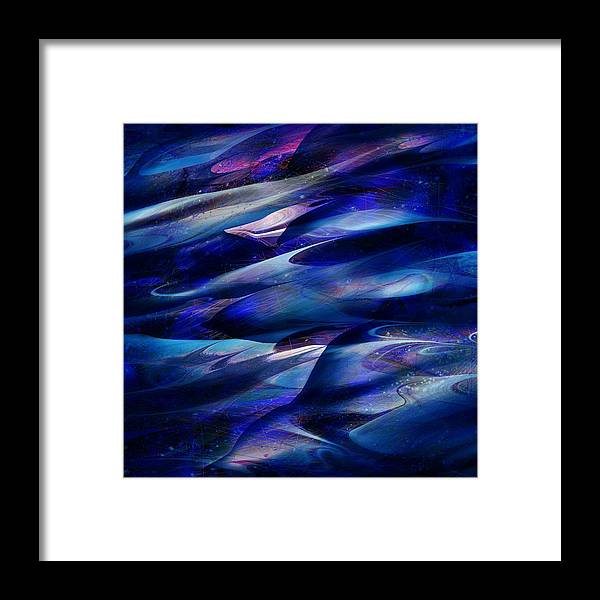 Abstract Framed Print featuring the digital art Flight by William Russell Nowicki
