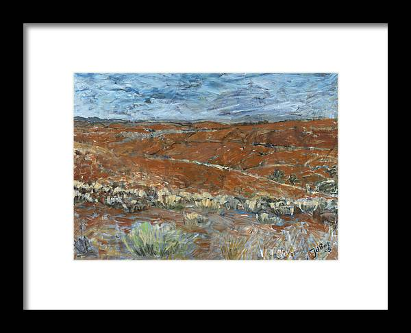 Australia Framed Print featuring the painting Flinders Ranges by Joan De Bot