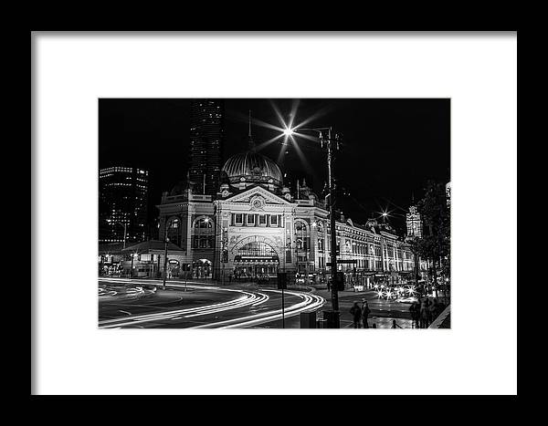 Melbourne Framed Print featuring the photograph Flinders Street Station by Elissa Bull