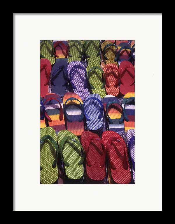 Abstract Framed Print featuring the photograph Flip Flops by Steve Outram