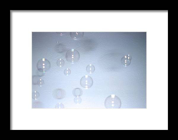 Bubbles Framed Print featuring the photograph Floating Bubbles Abstract 1 by Steve Ohlsen