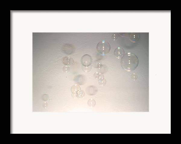 Bubbles Framed Print featuring the photograph Floating Bubbles Abstract 2 by Steve Ohlsen