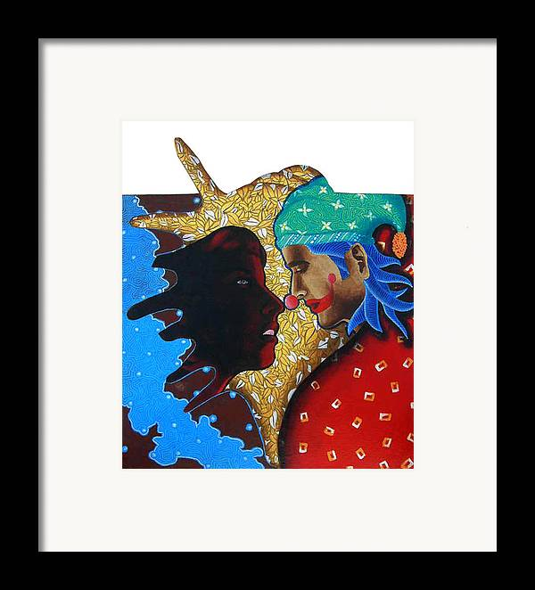 Joker Framed Print featuring the painting Floating Fantacy 4 by Bharat Gothwal