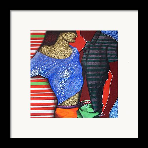 Fantacy Framed Print featuring the painting Floating Fantacy 44 by Bharat Gothwal