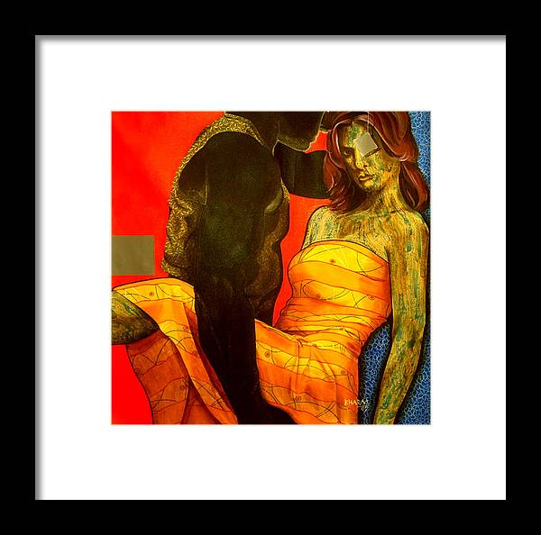 Contemporary Framed Print featuring the painting Floating Fantancy by Bharat Gothwal
