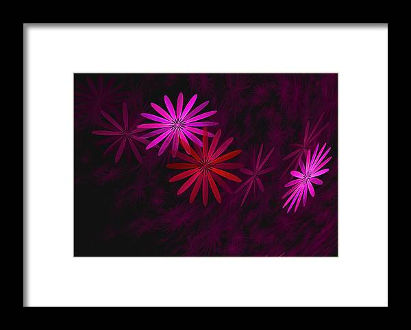 Fantasy Framed Print featuring the digital art Floating Floral - 006 by David Lane