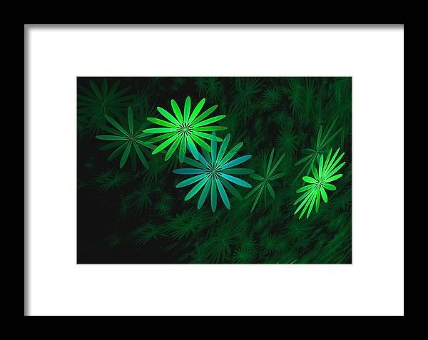 Digital Photography Framed Print featuring the digital art Floating Floral-007 by David Lane