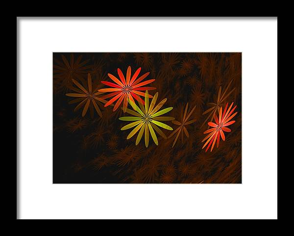 Digital Photography Framed Print featuring the digital art Floating Floral-008 by David Lane