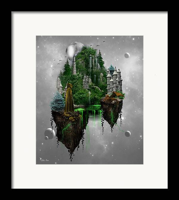 Ali Oppy Framed Print featuring the digital art Floating Kingdom by Ali Oppy