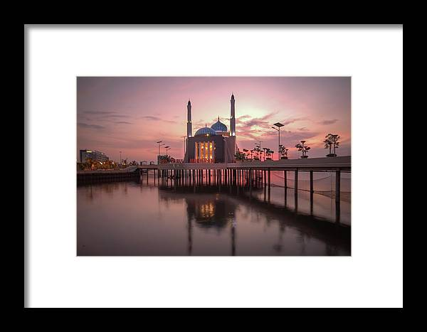 Mosque Framed Print featuring the photograph Floating Mosque by Budi Nur Mukmin