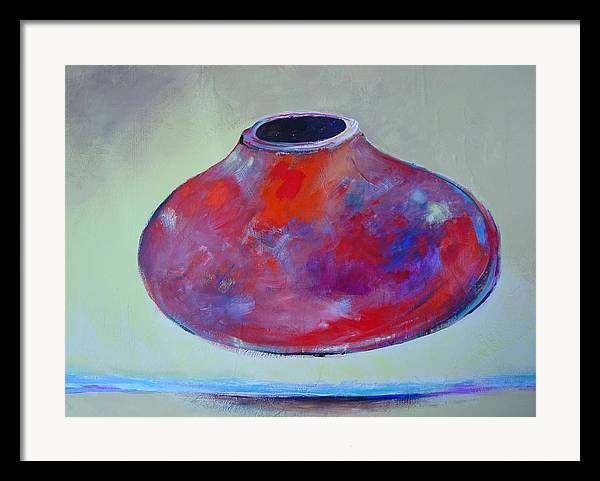 Still Life Framed Print featuring the painting Floating Pot by Paul Miller