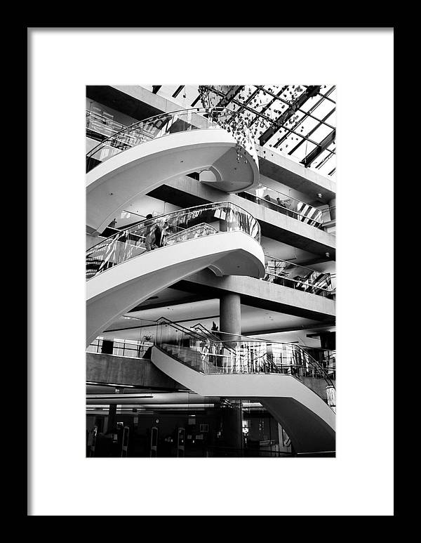 Architecture Framed Print featuring the photograph Floating Stair by Caroline Clark