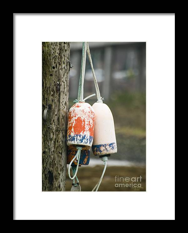 Nautical Framed Print featuring the photograph Floats by Larry Keahey