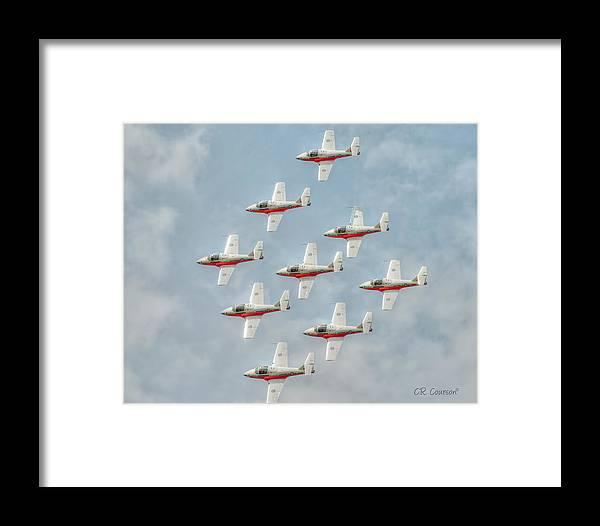 Snowbirds Framed Print featuring the photograph Flock Of Snowbirds by CR Courson
