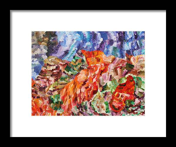 Fusionart Framed Print featuring the painting Flock by Ralph White