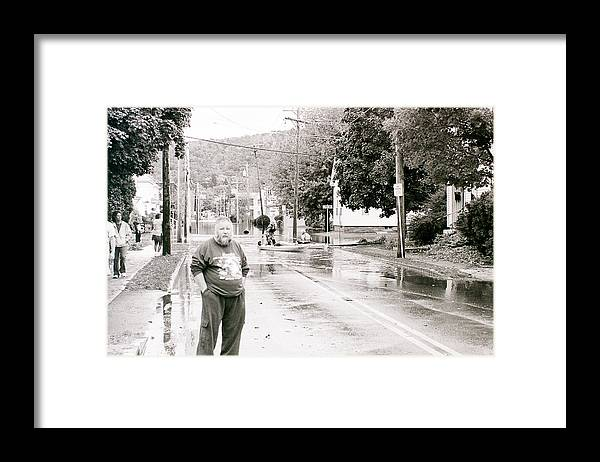Flood Framed Print featuring the photograph Flooded Streets Of Despair by Jeff Porter