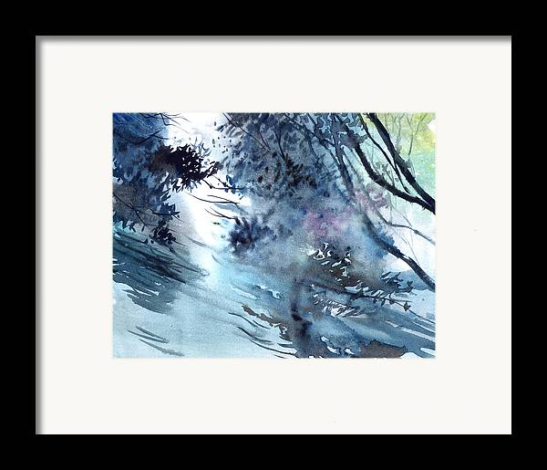 Floods Framed Print featuring the painting Flooding by Anil Nene