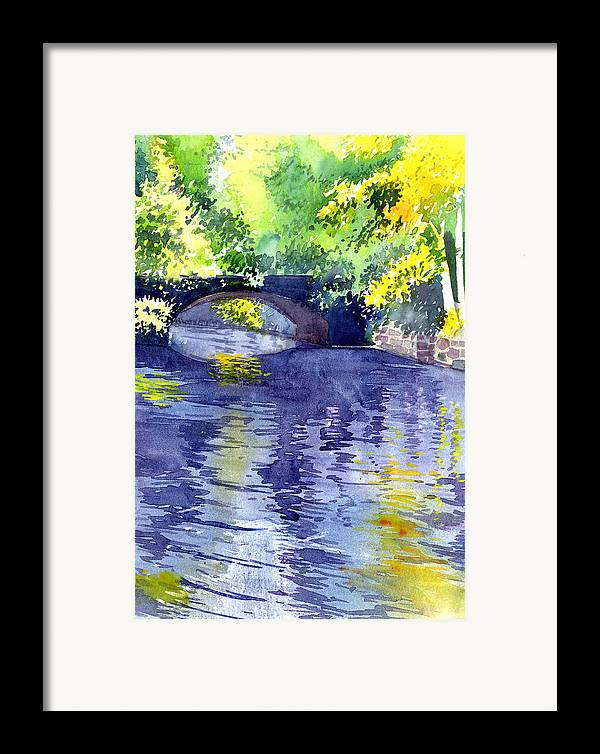 Nature Framed Print featuring the painting Floods by Anil Nene