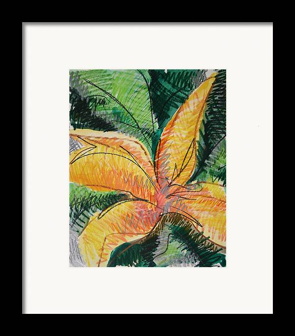 Lily Framed Print featuring the painting Flora Exotica 2 by Dodd Holsapple