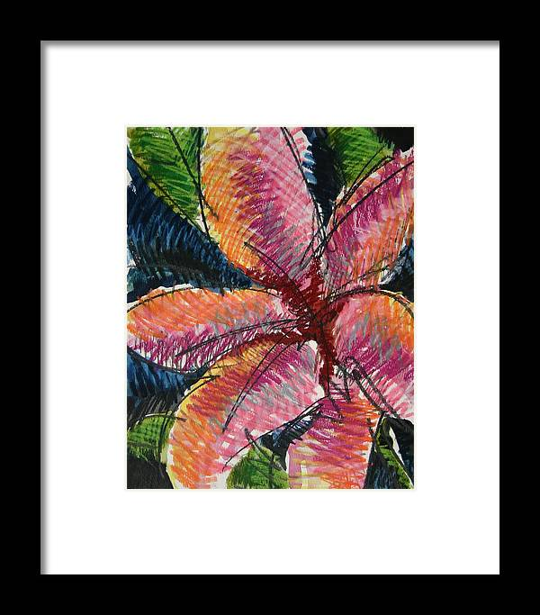 Lily Framed Print featuring the painting Flora Exotica 3 by Dodd Holsapple