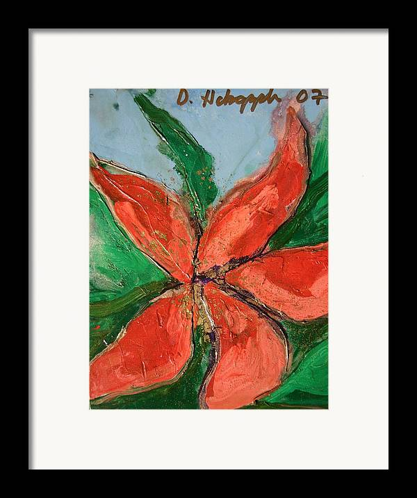 Flower Framed Print featuring the painting Flora Exotica A by Dodd Holsapple