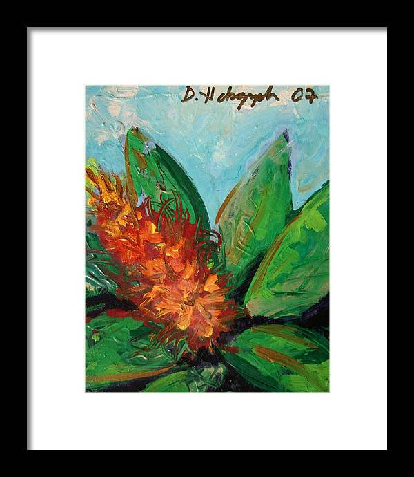 Exotic Framed Print featuring the painting Flora Exotica B by Dodd Holsapple