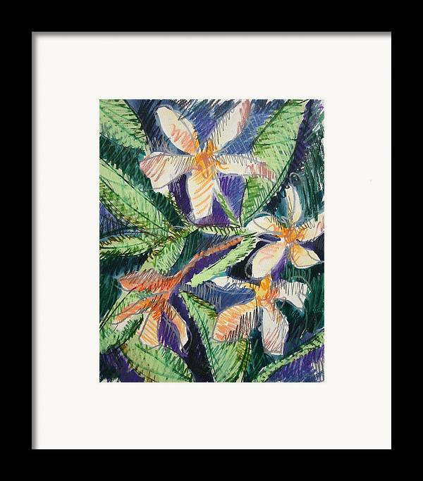 Flower Framed Print featuring the painting Flora Exotica by Dodd Holsapple