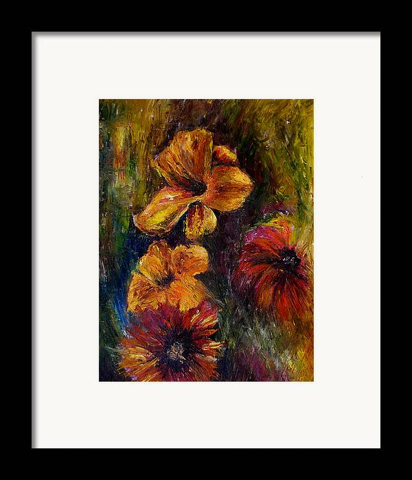 Knife Framed Print featuring the painting Flora by Lou Ewers