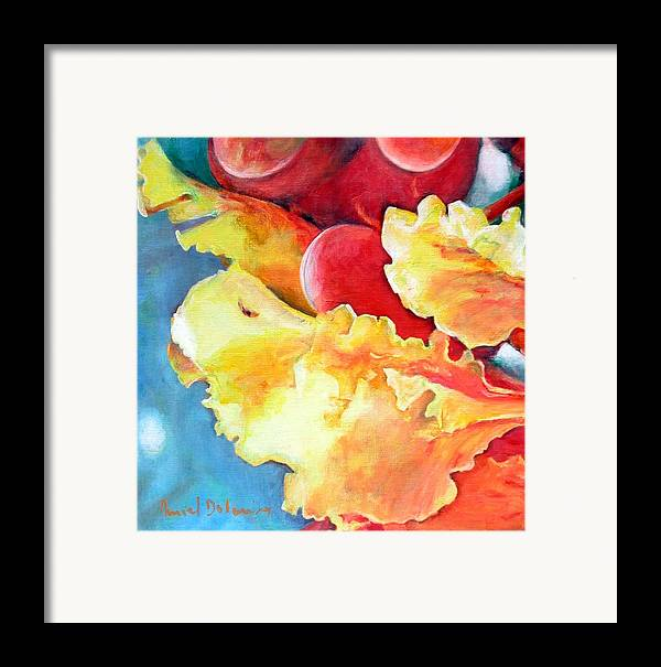 Floral Painting Framed Print featuring the painting Floraison by Muriel Dolemieux