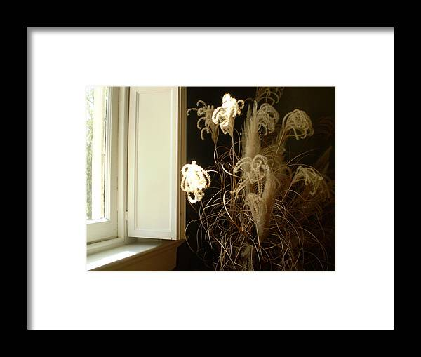 Flowers Framed Print featuring the photograph Floral Arrangement At Riverview by Utopia Concepts