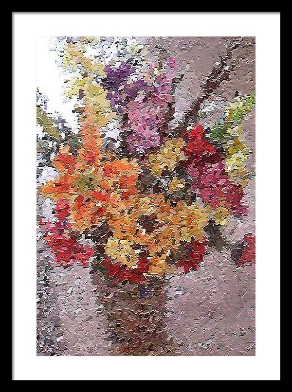 Still Life Framed Print featuring the painting Floral Arrangement by Don Phillips