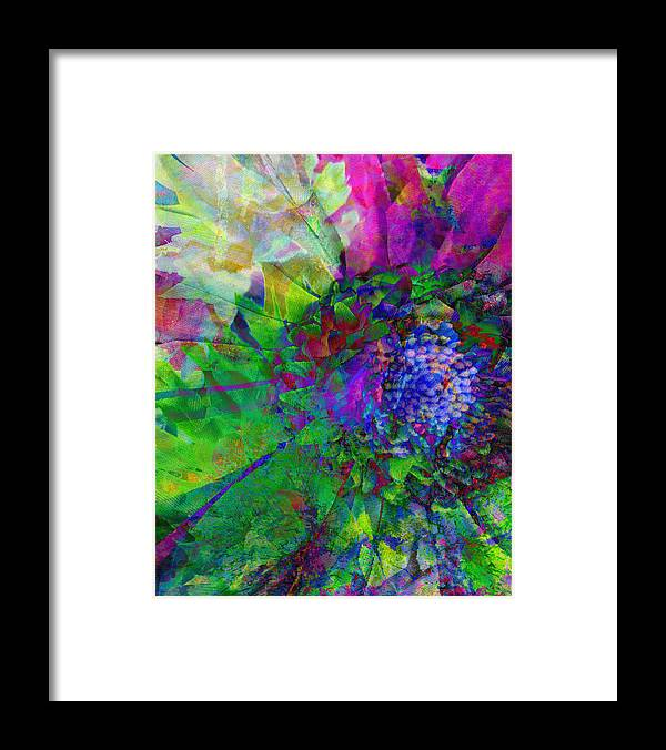 Botanical-art-prints Framed Print featuring the mixed media Floral Expressions I by Ricki Mountain