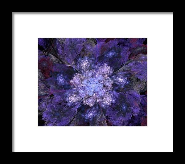 Digital Painting Framed Print featuring the digital art Floral Fantasy 1 by David Lane