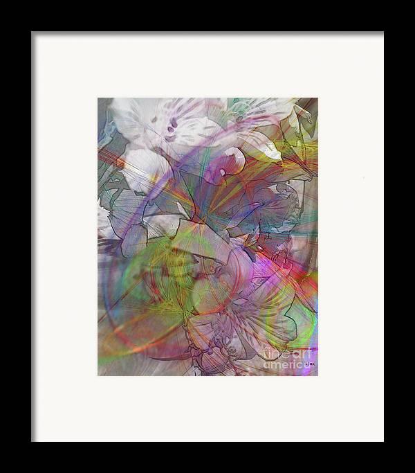 Floral Fantasy Framed Print featuring the digital art Floral Fantasy by John Beck
