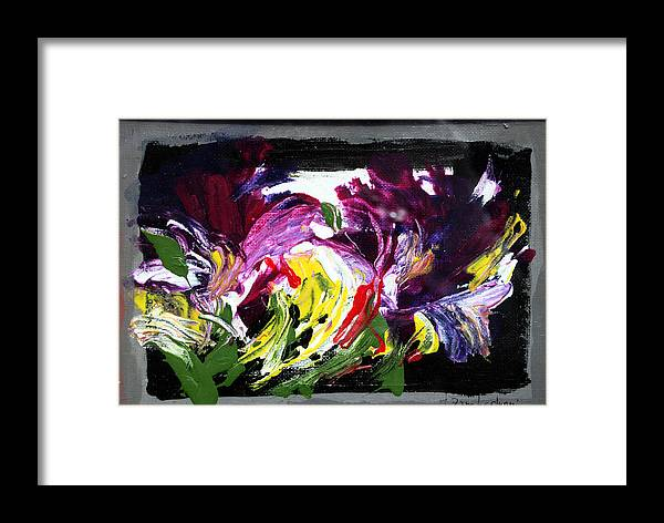 Abstract Framed Print featuring the painting Floral Flow by Mario Zampedroni