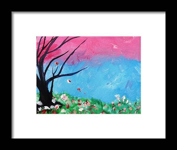 Home Decor Framed Print featuring the painting Floral Fragrance by Trilby Cole
