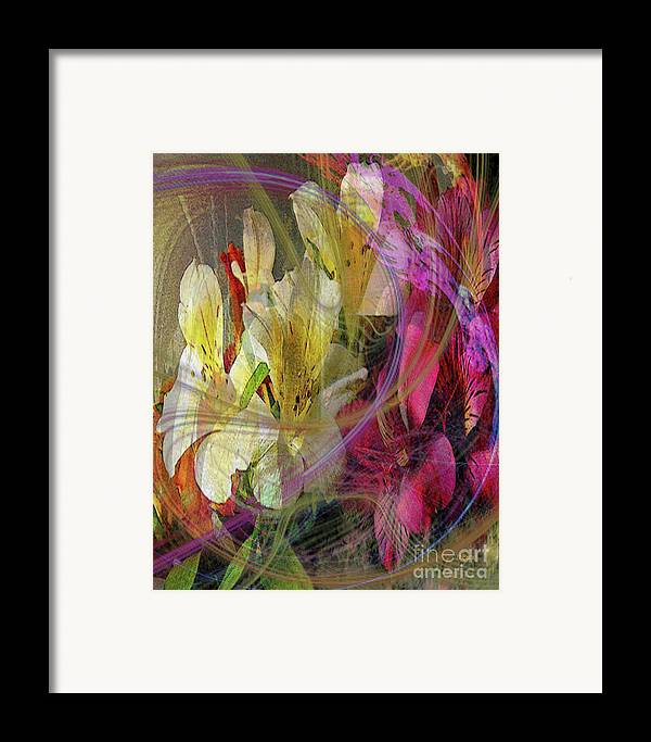 Floral Inspiration Framed Print featuring the digital art Floral Inspiration by John Beck