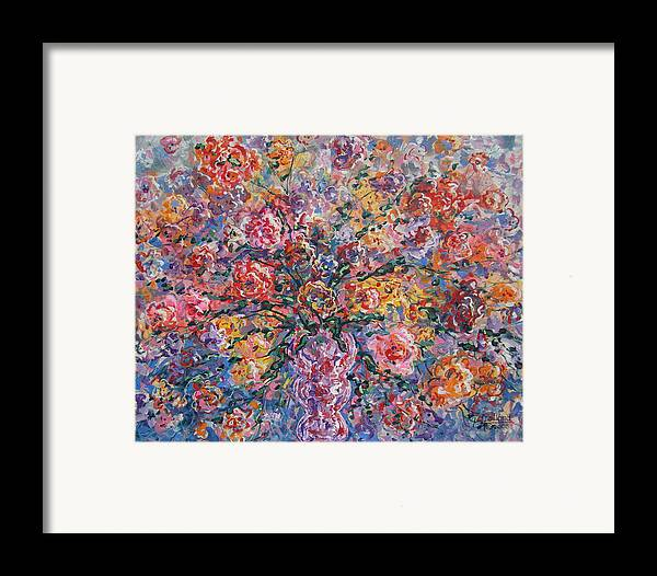 Painting Framed Print featuring the painting Floral Melody by Leonard Holland