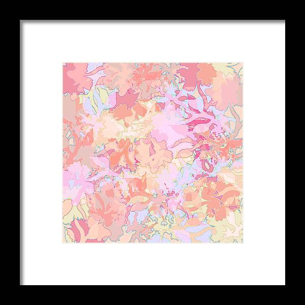 Abstract Framed Print featuring the digital art Floral Menagerie by Rachel Christine Nowicki