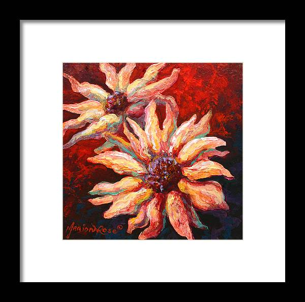 Floral Framed Print featuring the painting Floral Mini by Marion Rose