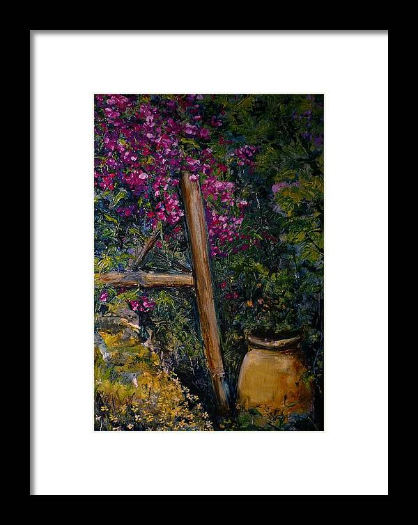 Bouganvilla Framed Print featuring the painting Floral Peace by Lizzy Forrester