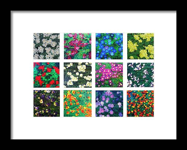 Flowers Framed Print featuring the painting Floralies by Wanda Pepin