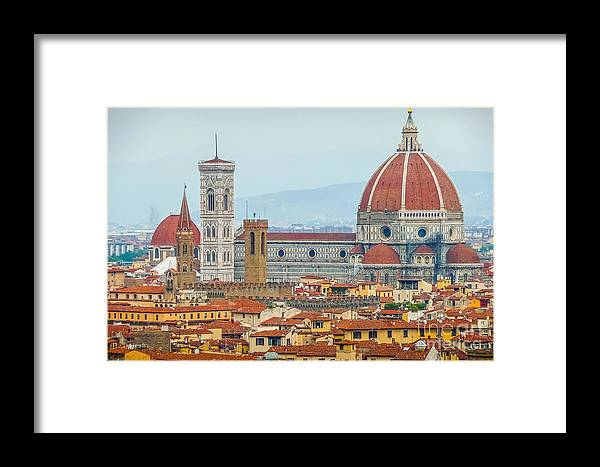 Aerial Framed Print featuring the photograph Florence And The Roofs by JR Photography