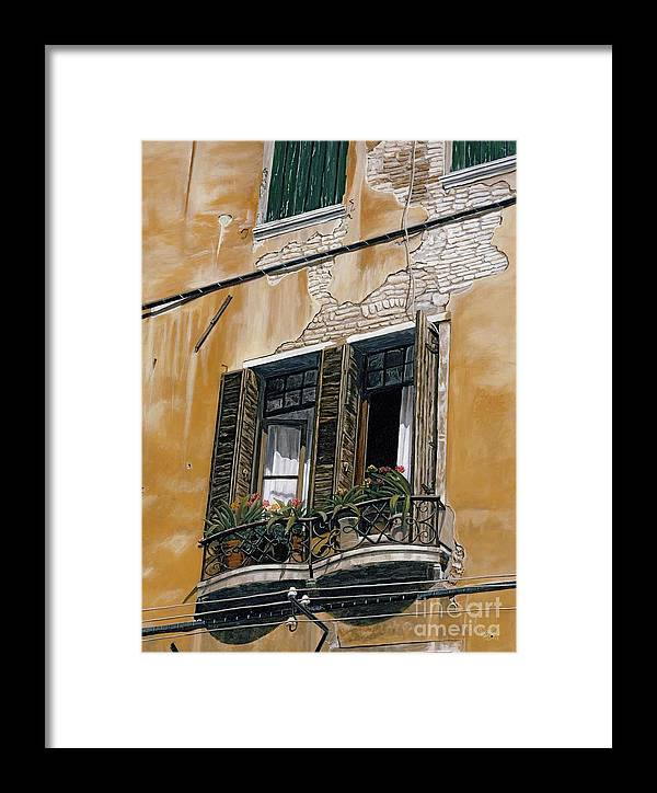 Florance Framed Print featuring the painting Florence Balcony by Jiji Lee
