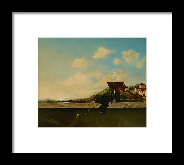 Roemer Framed Print featuring the painting Florence by Tjerk Reijinga