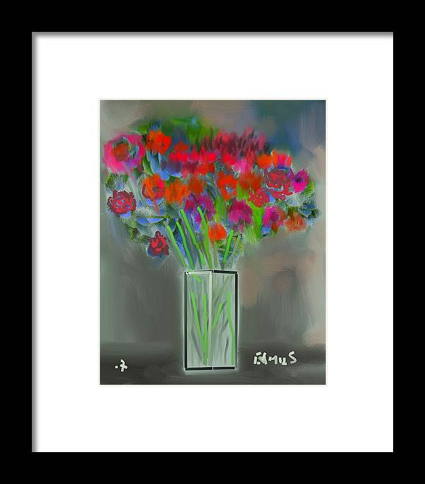 Art Framed Print featuring the painting Flores 1 by Carlos Camus