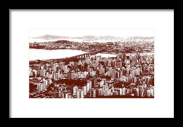 Florianopolis Framed Print featuring the photograph Florianopolis Downtown by Andre Panatto