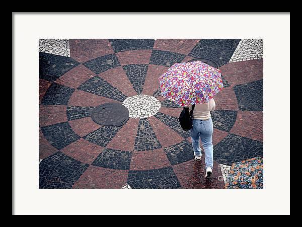 Rain Framed Print featuring the photograph Florida - Umbrellas Series 1 by Carlos Alvim
