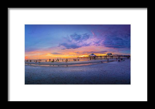 Pier Framed Print featuring the photograph Florida Beach Fun by Marvin Spates