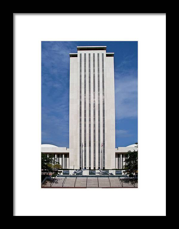 Color Photograph Framed Print featuring the photograph Florida Capitol by Wayne Denmark